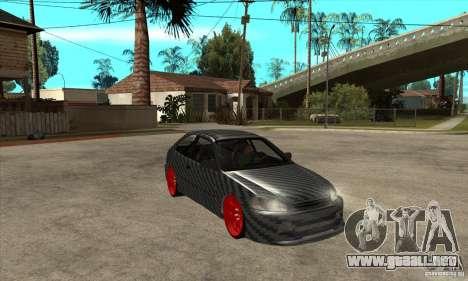 Honda Civic Carbon Latvian Skin para visión interna GTA San Andreas