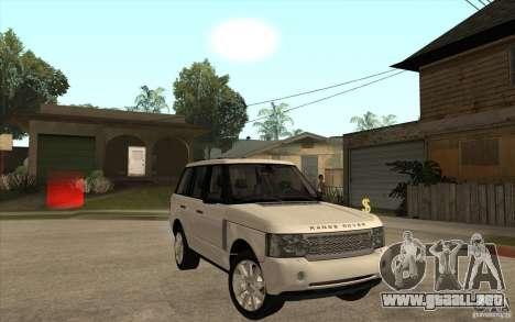 Range Rover Supercharged 2008 para GTA San Andreas vista hacia atrás