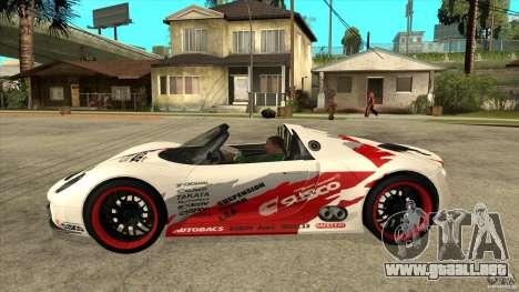 Porsche 918 Spyder Consept para GTA San Andreas left