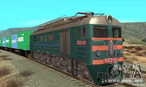 Locomotora VL23-419 para GTA San Andreas left