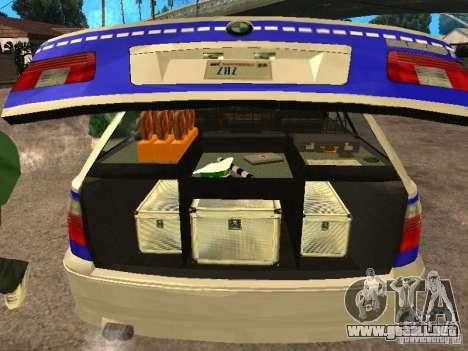 BMW 525i Touring Police para GTA San Andreas vista hacia atrás