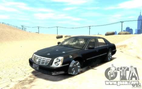 Cadillac DTS v 2.0 para GTA 4 vista desde abajo
