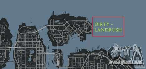 DiRTY - LandRush para GTA 4 décima de pantalla