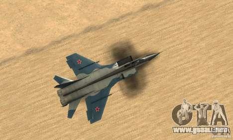 MiG-31 Foxhound para la visión correcta GTA San Andreas
