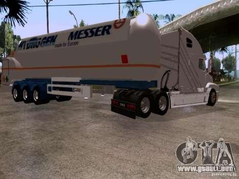 Freightliner Century para GTA San Andreas vista hacia atrás