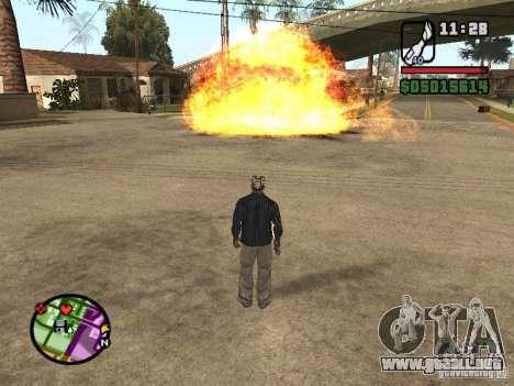 Overdose effects V1.3 para GTA San Andreas tercera pantalla