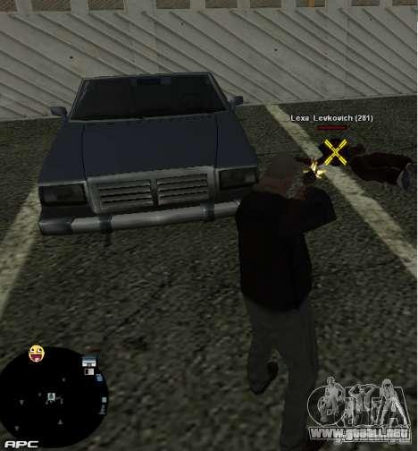 HUD №2 para GTA San Andreas tercera pantalla