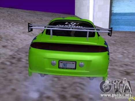 Mitsubishi Eclipse 1998 - FnF para la visión correcta GTA San Andreas