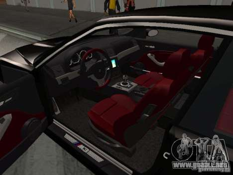 BMW M3 GT-R Stock para la vista superior GTA San Andreas