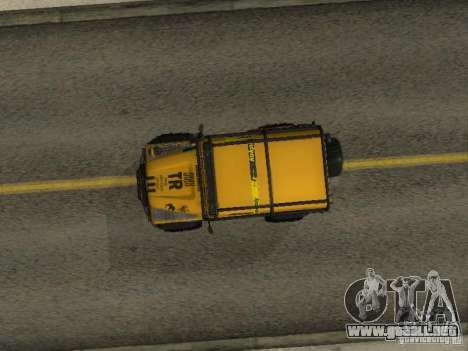 Land Rover Defender Off-Road para GTA San Andreas vista hacia atrás