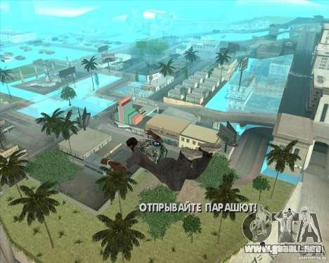 Paracaídas Rockstar (camuflaje) para GTA San Andreas segunda pantalla