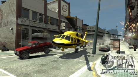 Yellow Annihilator para GTA 4 vista lateral