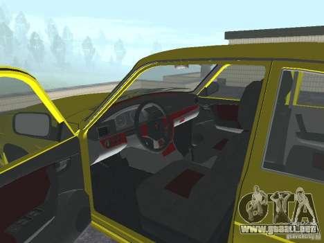 GAZ 31105 para GTA San Andreas vista hacia atrás