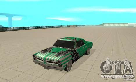 Pontiac GTO 1965 Speed King-NFS Pro Street para GTA San Andreas left