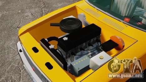 Taxi Gaz-3102 para GTA 4 vista hacia atrás