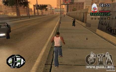 Kinder Surprise para GTA San Andreas segunda pantalla