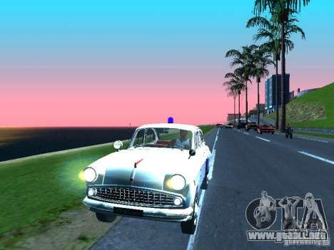 Moskvitch 403 con policía para GTA San Andreas left
