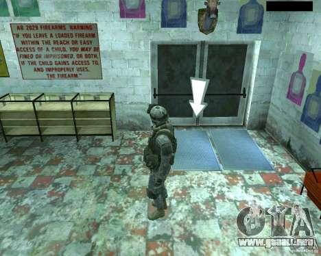 Soldado de infantería piel CoD MW 2 para GTA San Andreas quinta pantalla