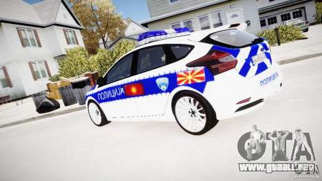 Ford Focus Macedonian Police para GTA 4 left