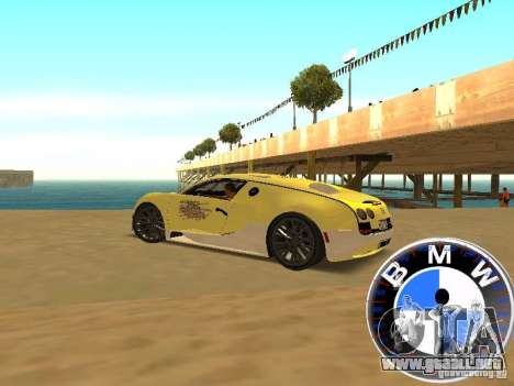 BMW velocímetro para GTA San Andreas tercera pantalla