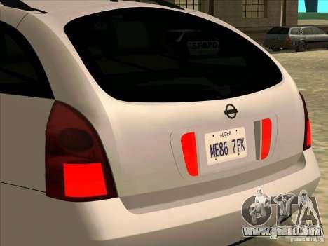 Nissan Primera Wagon para la visión correcta GTA San Andreas