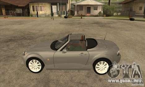 Mazda MX-5 2007 para GTA San Andreas left