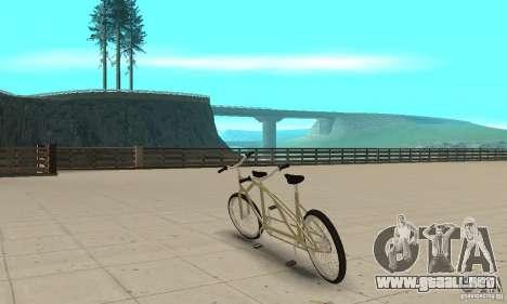 double classic MT Bike para GTA San Andreas vista posterior izquierda