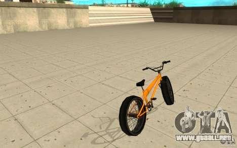 BMX Long Big Wheel Version para GTA San Andreas vista posterior izquierda