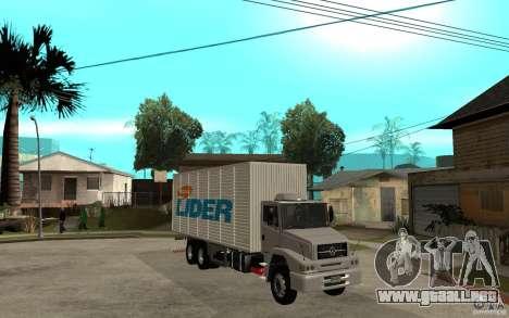 Camiun Hiper Lider para GTA San Andreas vista hacia atrás