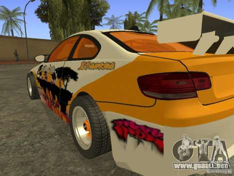 BMW M3 E92 DriftRoots para GTA San Andreas left