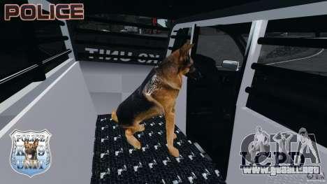 LCPD K9 Unit para GTA 4 vista hacia atrás