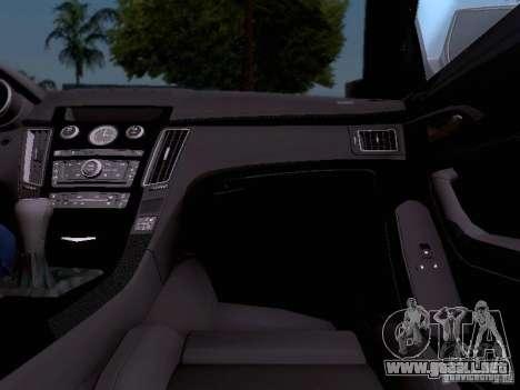 Cadillac CTS-V 2009 para GTA San Andreas interior