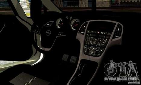 Opel Astra Senner para vista lateral GTA San Andreas