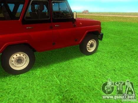 UAZ 315148 para la visión correcta GTA San Andreas