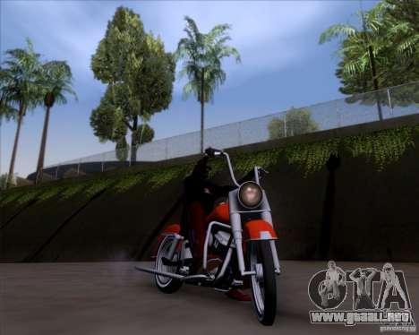 Harley-Davidson FL Duo Glide 1961 (Lowrider) para visión interna GTA San Andreas