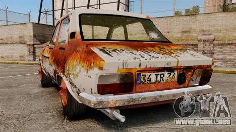 Renault 12 Toros oxidado v2.0 para GTA 4 Vista posterior izquierda