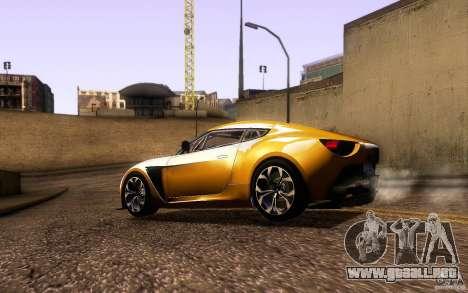 Aston Martin Zagato V12 V1.0 para la vista superior GTA San Andreas
