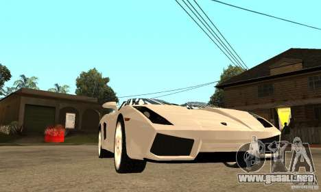 Lamborghini Concept S v2.0 para GTA San Andreas vista hacia atrás