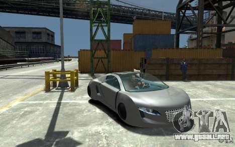 Audi RSQ Concept para GTA 4 vista hacia atrás