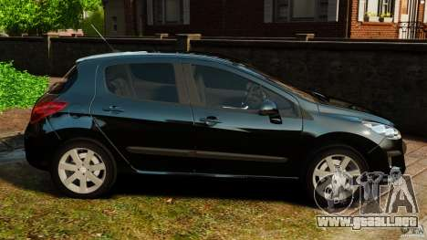 Peugeot 308 2007 para GTA 4 left