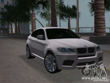 BMW X6M para GTA Vice City visión correcta