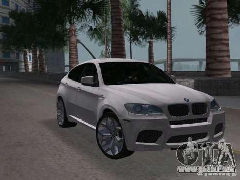BMW X6M para GTA Vice City visión correcta