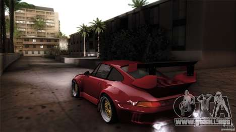 Porsche 993 RWB para GTA San Andreas left