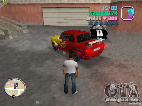 ZAZ: 968 m para GTA Vice City left