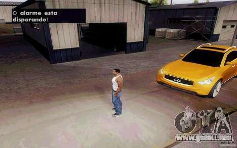 Alarme Mod v4.5 para GTA San Andreas sucesivamente de pantalla