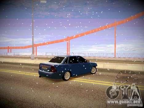 Lada Priora Turbo v2.0 para GTA San Andreas vista hacia atrás
