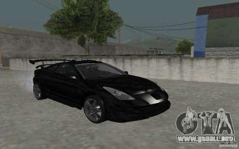 Toyota Celica para la vista superior GTA San Andreas