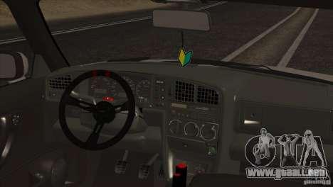 Volkswagen Corrado VR6 para vista lateral GTA San Andreas