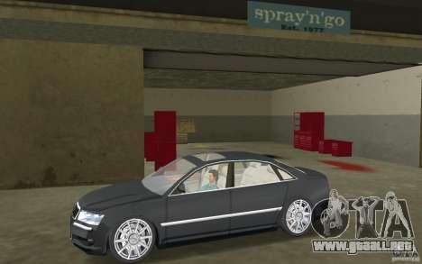 Audi A8 para GTA Vice City vista lateral izquierdo