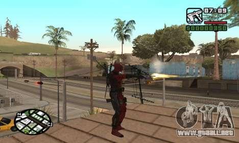 Dead Pool para GTA San Andreas segunda pantalla